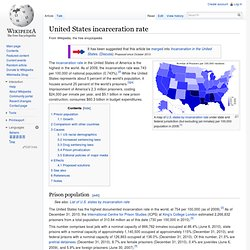 United States incarceration rate