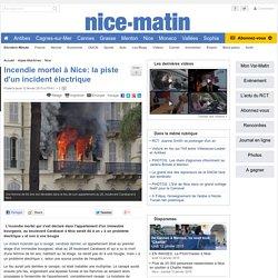 Incendie mortel à Nice: la piste d'un incident électrique