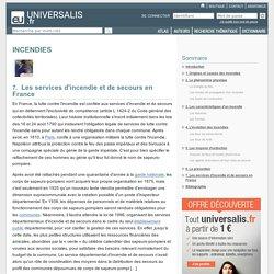 INCENDIES, Les services d'incendie et de secours en France