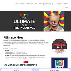 PBIS: 225 Incentives for Students of All Ages