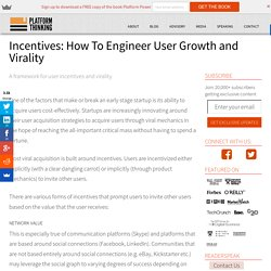 Growth Hacking: Structuring incentives for virality