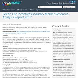Green Car Incentives Industry Market Research Analysis Report 2017