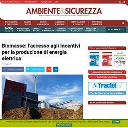 Biomasse: incentivi per la produzione di energia elettrica