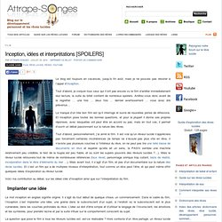 Inception, idées et interprétations [SPOILERS]