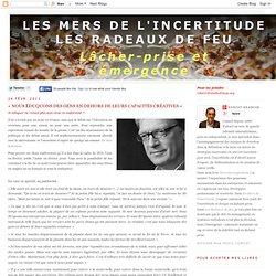 « NOUS ÉDUQUONS DES GENS EN DEHORS DE LEURS CAPACITÉS CRÉATIVES »
