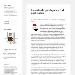 Incertitude politique en Irak post-Daech