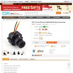 FPV 1/3 pouce CMOS couleur HD 600TVL Mini caméra (PAL)