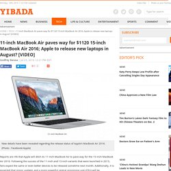 11-inch MacBook Air paves way for $1120 15-inch MacBook Air