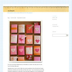inchmark - inchmark journal - my little&valentine