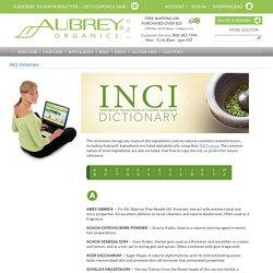 INCI Dictionary