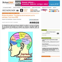 Prose et poésie : l'incidence de la lecture sur le cerveau, vue sous IRM
