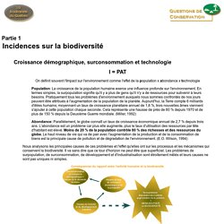 Incidences sur la biodiversité