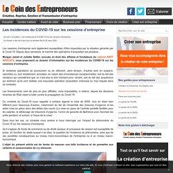 Les incidences du COVID-19 sur les cessions d'entreprise