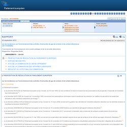 EUROPE 25/09/12 Rapport sur les incidences sur l'environnement des activités d'extraction de gaz de schiste et de schiste bitumi