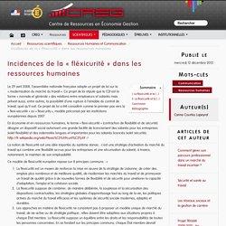 Incidences de la « fléxicurité » dans les ressources humaines