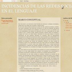 INCIDENCIAS DE LAS REDES SOCIALES EN EL LENGUAJE: MARCO CONCEPTUAL
