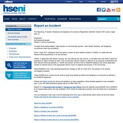 Report an Incident - HSENI - Controlling Risk Together - Health and Safety Executive Northern Ireland