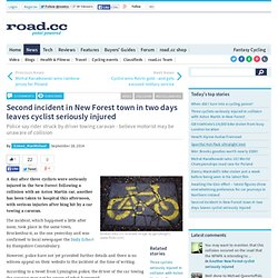 Second incident in New Forest town in two days leaves cyclist seriously injured