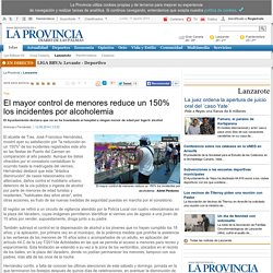 El mayor control de menores reduce un 150% los incidentes por alcoholemia