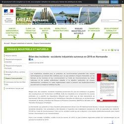 Bilan des incidents - accidents industriels survenus en 2018 en Normandie