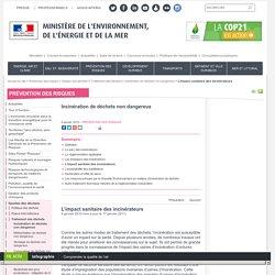 L'impact sanitaire des incinérateurs - Ministère de l'Environnement, de l'Ene...