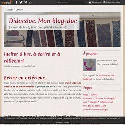 Ecrire en extérieur - Didacdoc