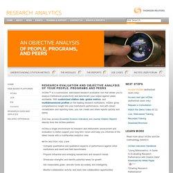 InCites - Research Analytics - Thomson Reuters