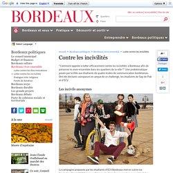 Lutte contre les incivilités - Bordeaux vivre ensemble