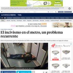 El incivismo en el metro, un problema recurrente