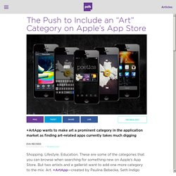 The Push to Include an Art Category in the Apple App Store