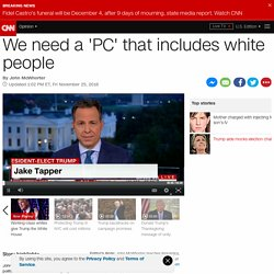 We need a 'PC' that includes white people (Opinion)