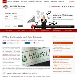 HTTPS for Benefits Including Search Engine Optimization