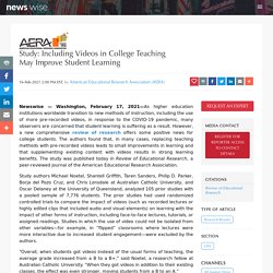 Study: Including Videos in College Teaching May Improve Student Learning