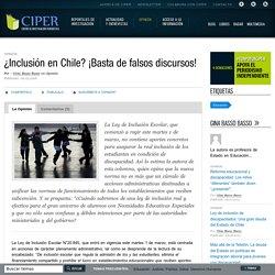 ¿Inclusión en Chile? ¡Basta de falsos discursos!