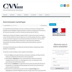 Avis inclusion numérique - Conseil National du Numérique