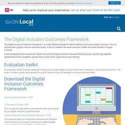 DCMS Digital Inclusion Outcomes Framework
