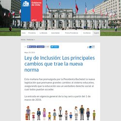 Ley de Inclusión: Los principales cambios que trae la nueva norma