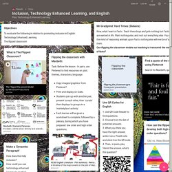 Inclusion, Technology Enhanced Learning, and English
