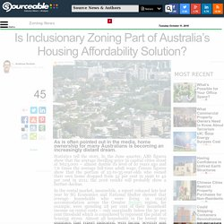 Is Inclusionary Zoning Part of Australia's Housing Affordability Solution?