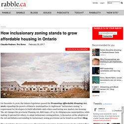 How inclusionary zoning stands to grow affordable housing in Ontario