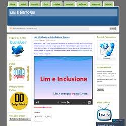 Lim e inclusione: introduzione teorica