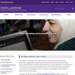 Inclusive Teaching and Accessibility Online