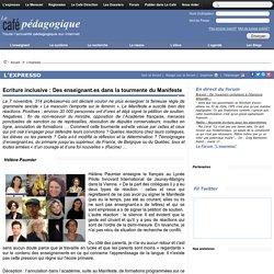 Ecriture inclusive : Des enseignant.es dans la tourmente du Manifeste