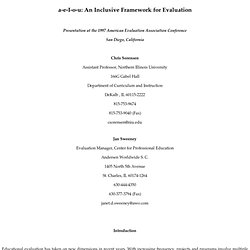 a-e-I-o-u: An Inclusive Framework for Evaluation