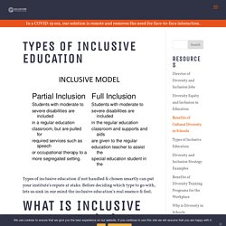 Types of Inclusive Education - Go Culture International