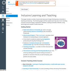Univeristy of Birmingham Inclusive Learning and Teaching: Teaching Academy