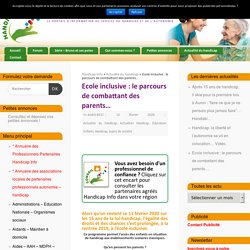Ecole inclusive : le parcours de combattant des parents... - Handicap Info