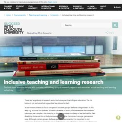 Pymouth University - Inclusive teaching and learning research