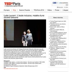 Lydie Laurent : L'école inclusive, modèle d'une société tolérante