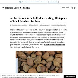 An Inclusive Guide to Understanding All Aspects of Black Mexican Pebbles – Wholesale Stone Solutions
